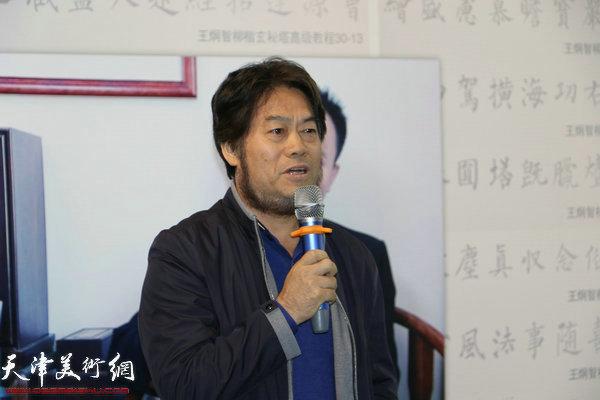 南开大学历史学院教授、博士生导师、著名学者、书法家朱彦民致辞。
