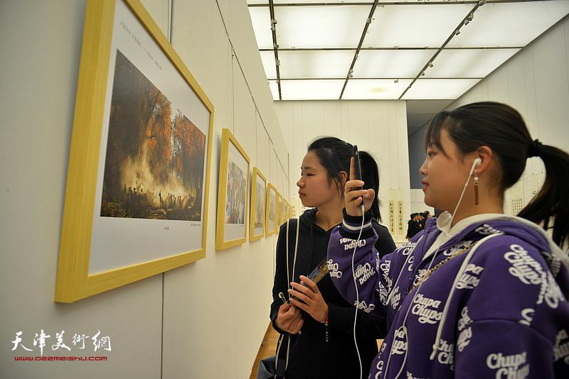 津和情-大美和田美术书法摄影展现场。