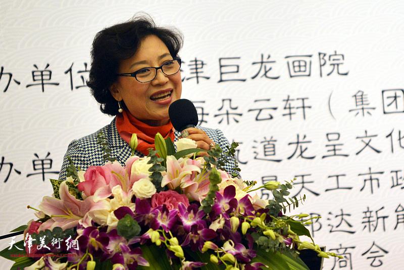 著名京剧演员、上海市戏曲学院院长李佩红致辞。
