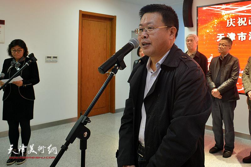 河西区委宣传部副部长、文联主席怀远致辞。
