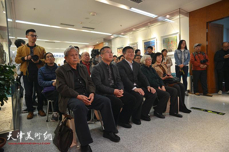 庆祝改革开放40周年—河西区书法篆刻大展开幕仪式现场。