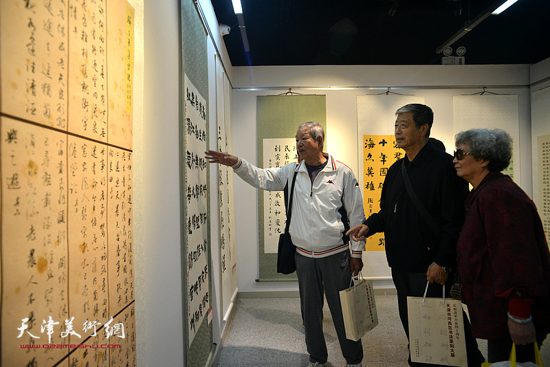 庆祝改革开放40周年—河西区书法篆刻大展现场。