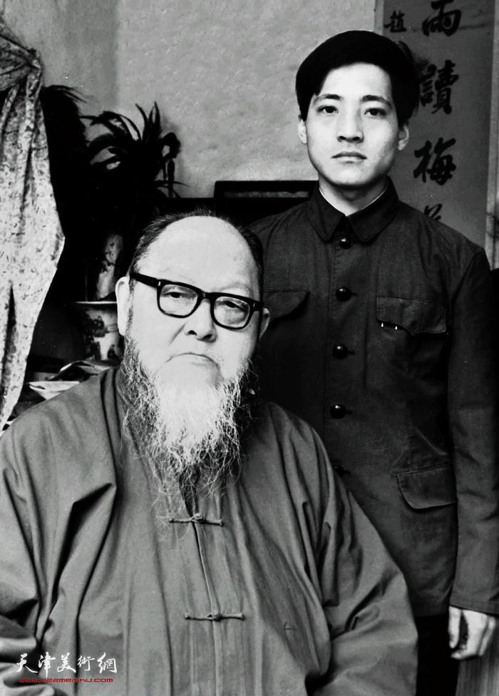 1983年赵光与恩师龚望
