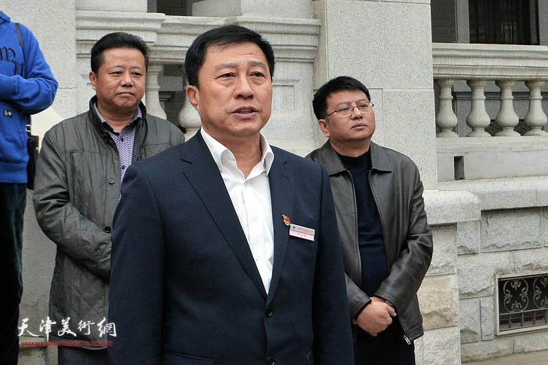 天津市文物公司党总支书记、经理刘光欣致辞