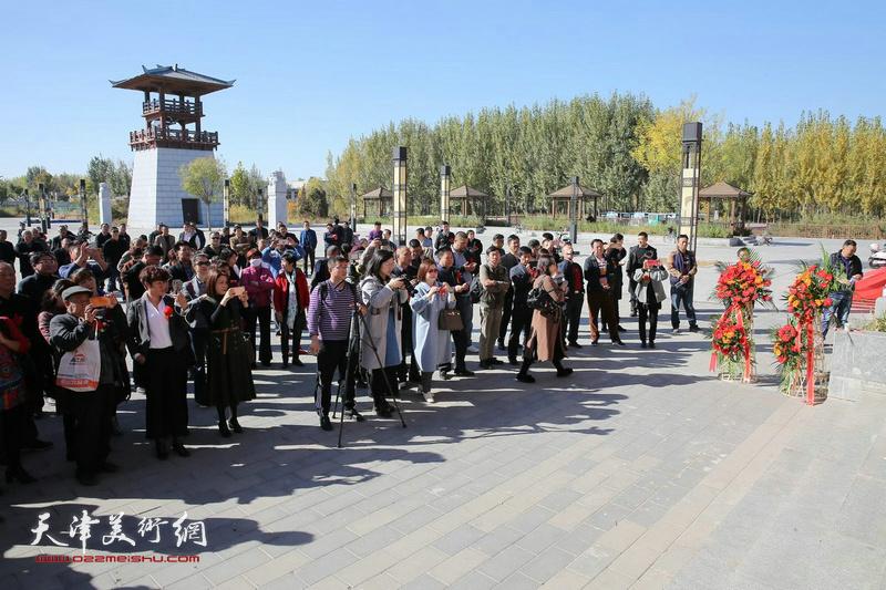 """马魏华""""汉字书法艺术展""""暨雄安新区鄚州艺术馆、汉字历史艺术馆揭牌仪式现场。"""