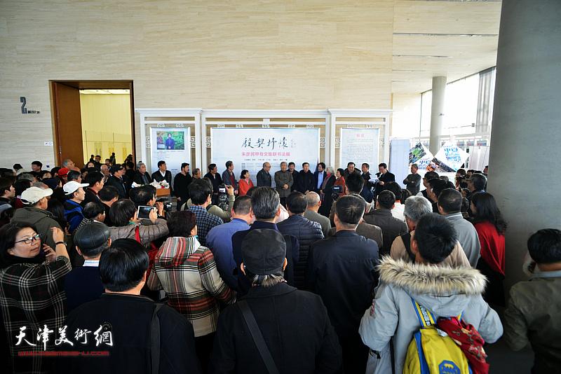 殷契抒怀——朱彦民甲骨文集联书法展在天津美术馆开幕。
