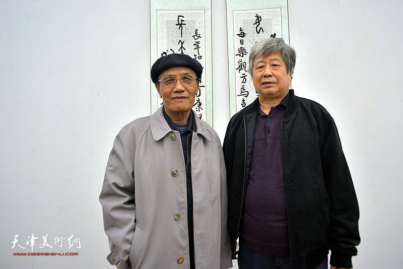 安玉恺、冯幼伟在展览现场。