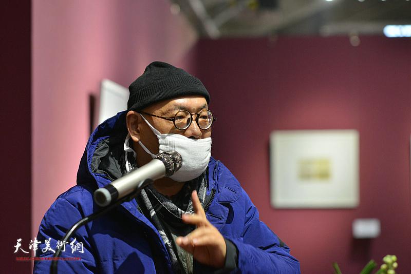 中央美术学院中国画院院长、博士生导师陈平致辞。