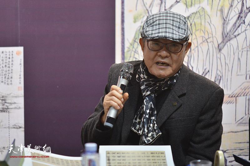 李可染画院副院长、中国艺术研究院博士生导师姜宝林发言。