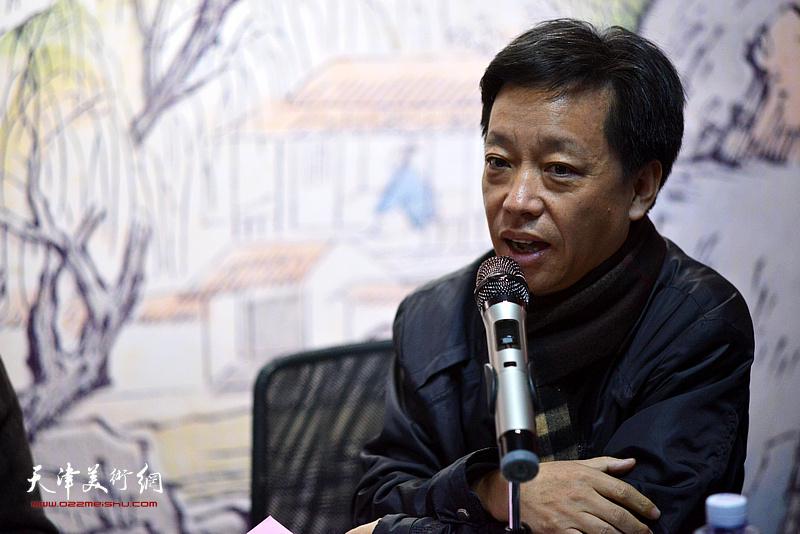 北京大学历史文化资源研究所研究员刘墨发言。