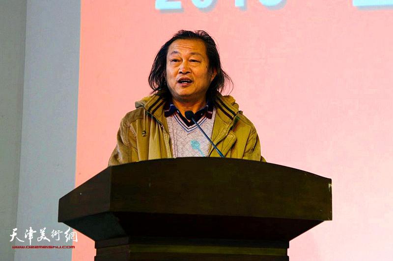 天津市武清区文化馆副馆长刘永吉代表参展作者讲话