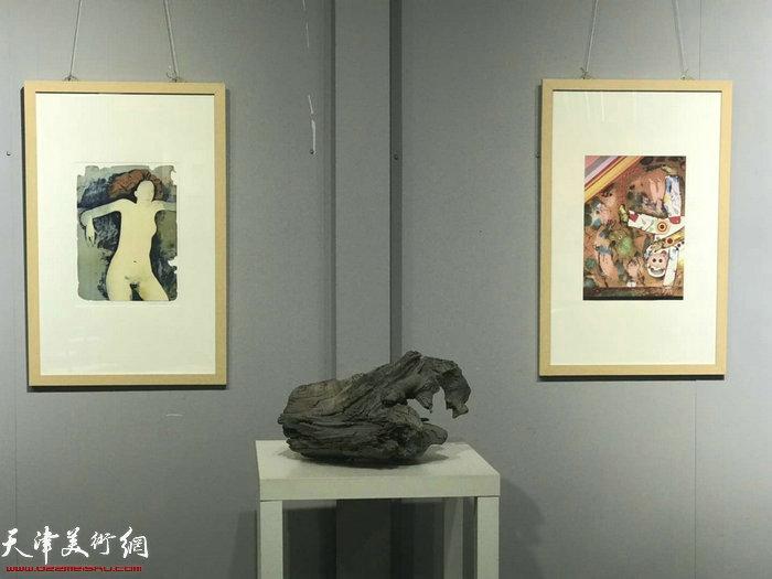 """""""邂逅经典—中欧版画藏书票艺术展""""现场。"""