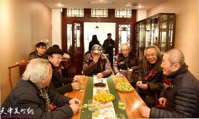 阮克敏先生、王之海先生、贾宝珉先生、姚景卿先生、霍春阳先生、侯春林先生、张枕石先生品茗雅谈