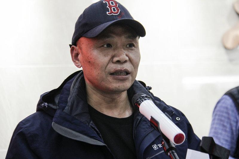 河南省商丘市文化馆馆长王纲在开幕式上致辞。