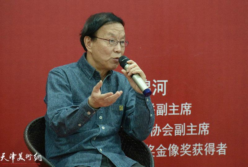 天津市文联副主席、天津市摄影家协会副主席、中国摄影界最高奖金像奖获得者李锦河 在摄影论坛讲话中