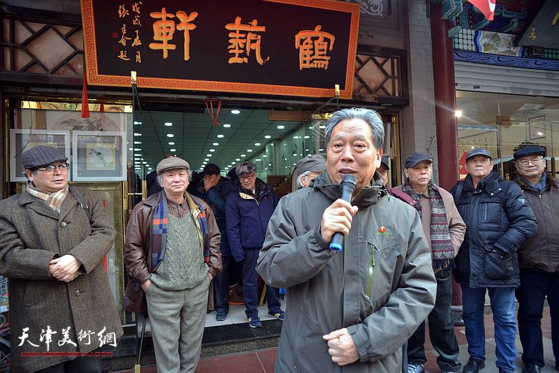 天津市文化产业协会副会长、著名书画家霍然致辞。