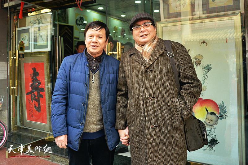 李根友与赵士英在鹤艺轩。