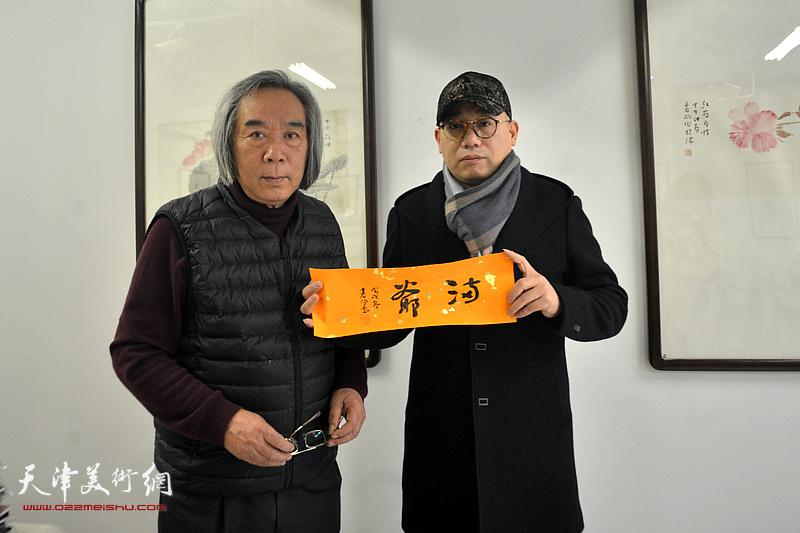 """霍春阳老师题写爱新觉罗家族品牌""""满爷"""""""