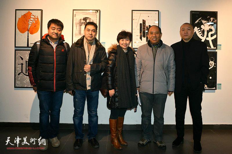 薛明、魏长增、高山、龚丽君在展览现场。