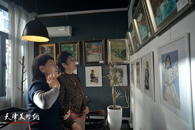 茉莉花开——刘莉莉油画作品展现场。