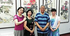 天津著名女画家冯字锦牡丹作品在紫竹林画苑展出