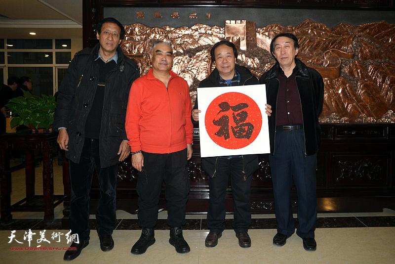 左起:孙光伟、林德谦、赵寅、李岳林在迎新春活动现场。