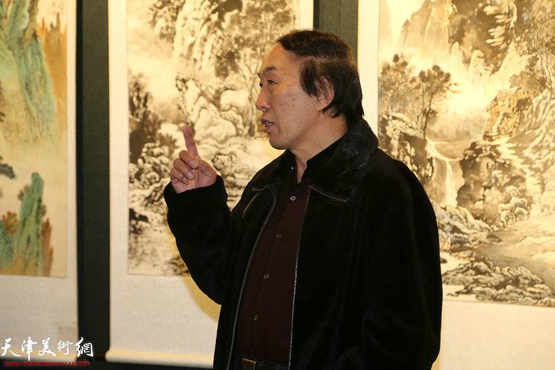 书画院名誉院长李岳林讲话