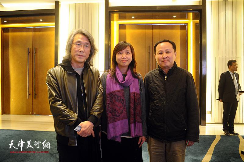 赵均、张立涛、蔡芷羚在迎春沙龙现场。