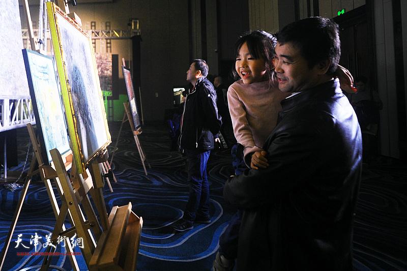 """""""淋子、秀夫迎春艺术沙龙""""在天津泛太平洋大酒店举办。"""