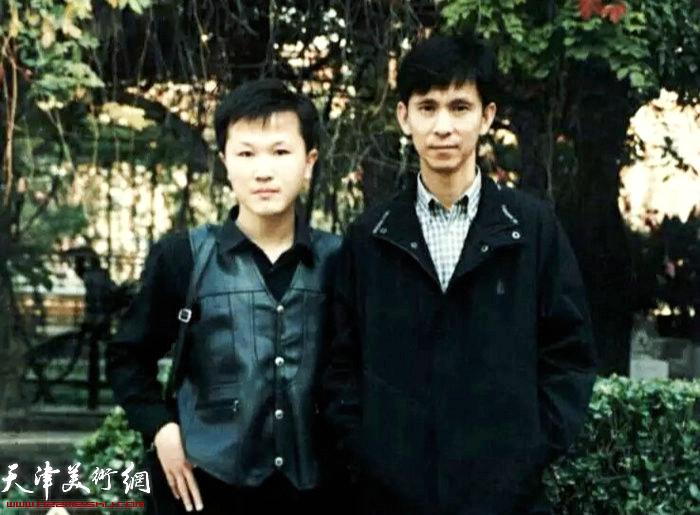 赵景宇先生与何家英先生初识于天津美术学院