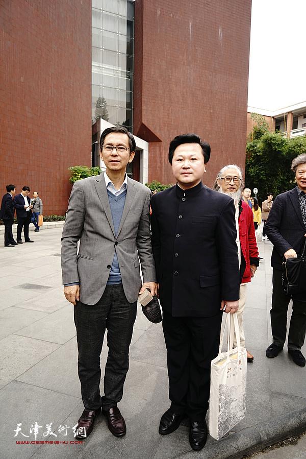 何家英先生与赵景宇先生在广州美院。