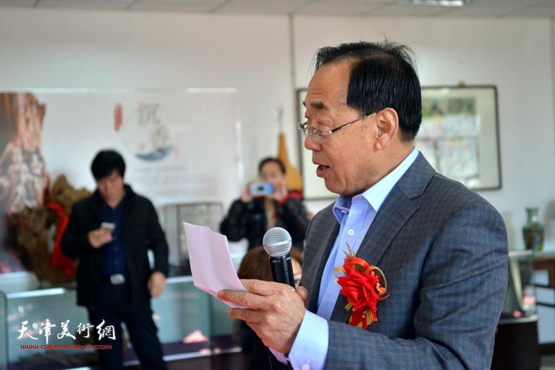 宋金华在艺术交流研讨会上发言。
