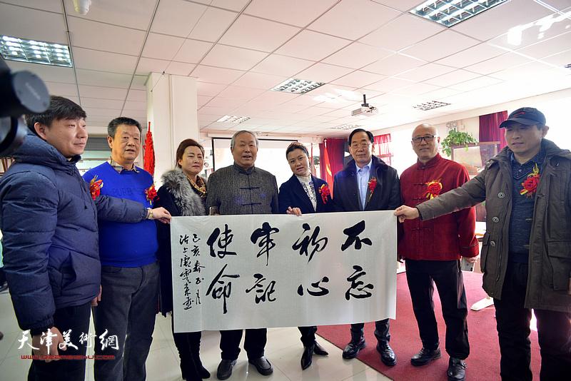 唐云来、王秀清、张金忠、田永健等在艺术交流研讨会现场。