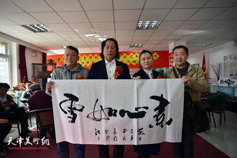 王秀清、刘长龙、王序凡在艺术交流研讨会现场
