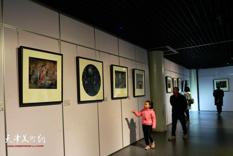 观石景·品世态—马利安、王再善绘画双人展现场。