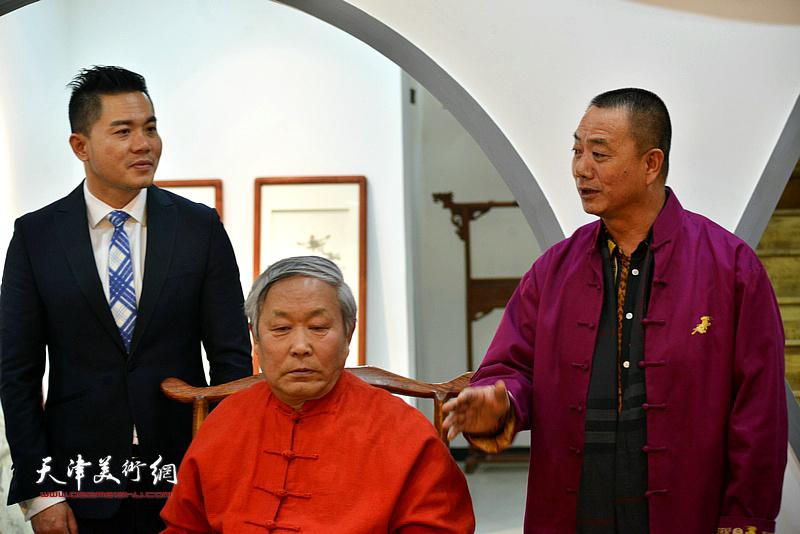 王树江祝贺唐云来先生喜收新徒。