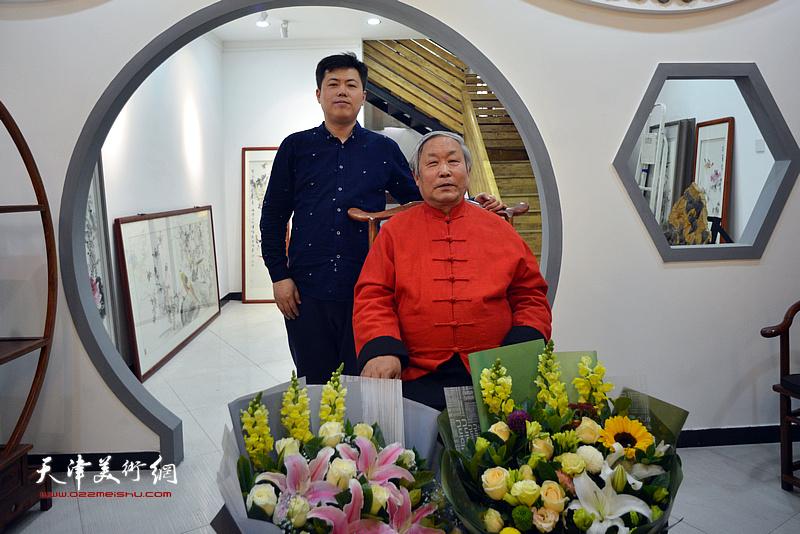 唐云来先生与李映川在拜师仪式现场