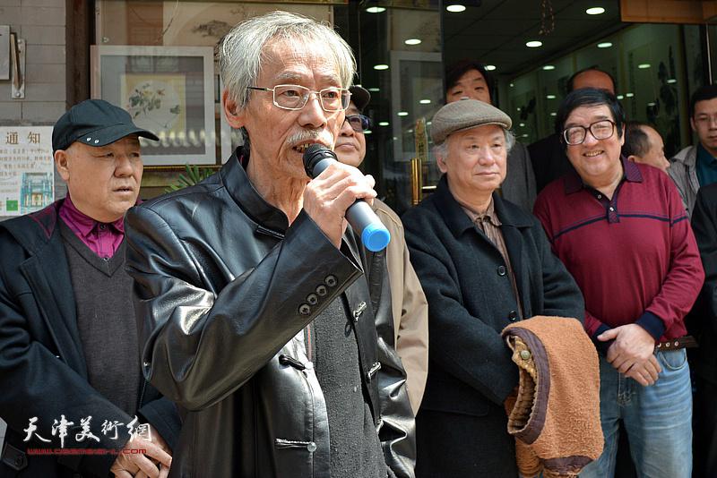 天津十大画家之一、著名花鸟画家姚景卿致辞。