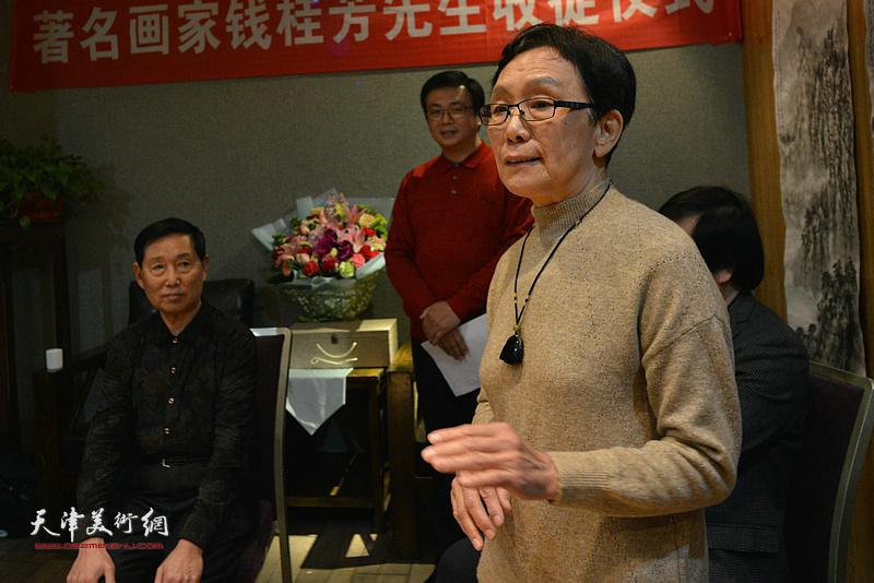 萧惠珠祝贺钱桂芳先生喜收新徒。