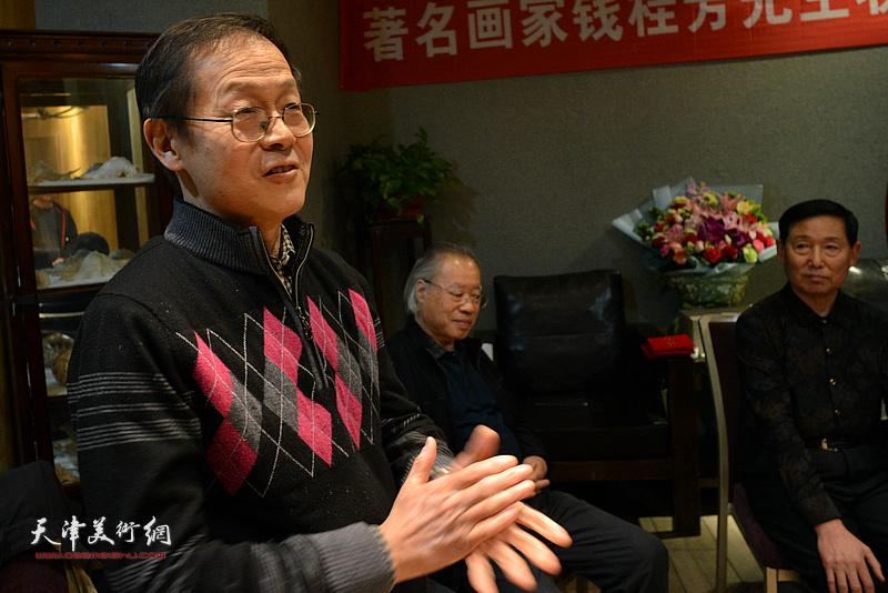 尚金声祝贺钱桂芳先生喜收新徒。