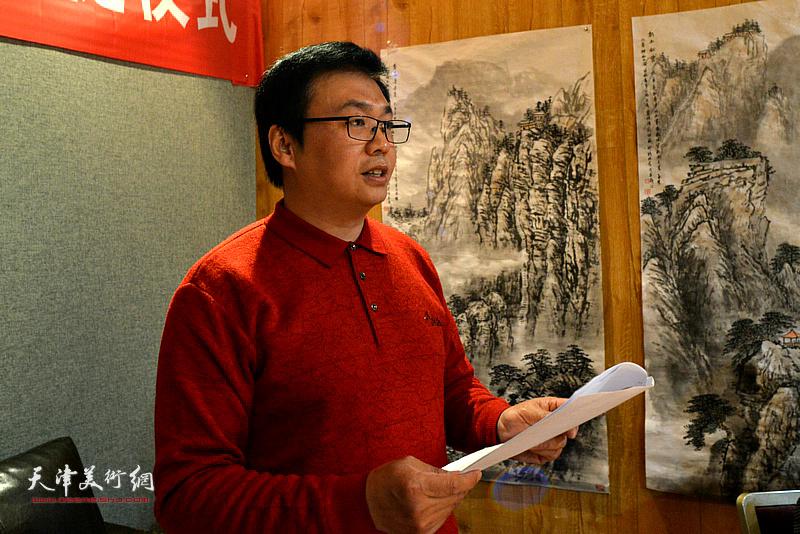 钱桂芳先生收徒仪式由天津青年画家刘波主持。
