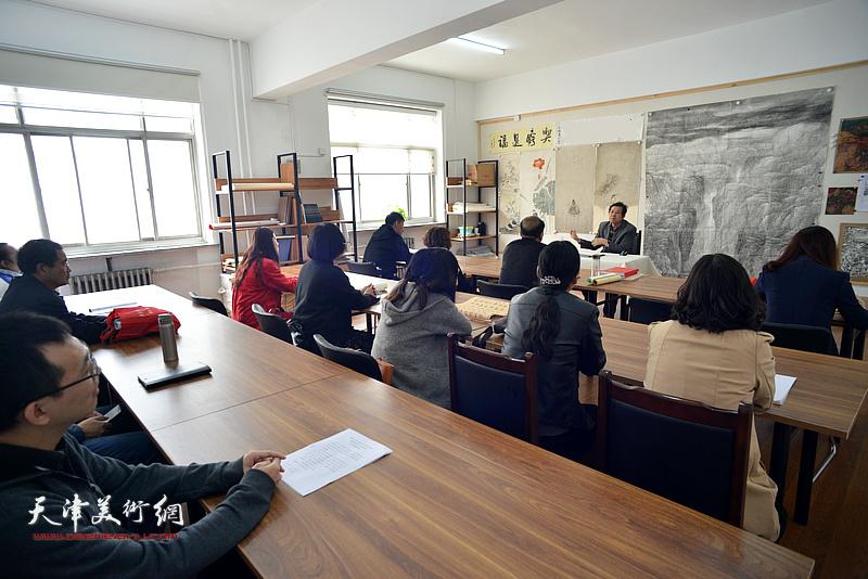 第十三届全国美术作品展静海区动员大会在静海书画院召开