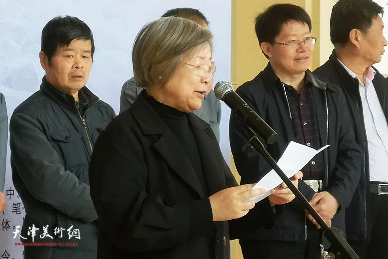 菏泽学院美术与设计学院院长周倩致辞。