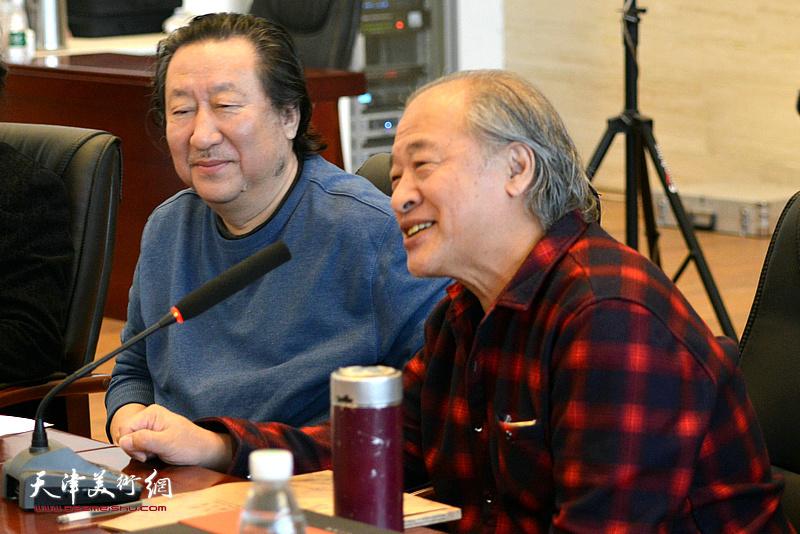 王書平在座談會現場發言。