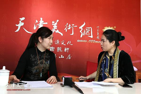 青年画家李悦做客天津美术网