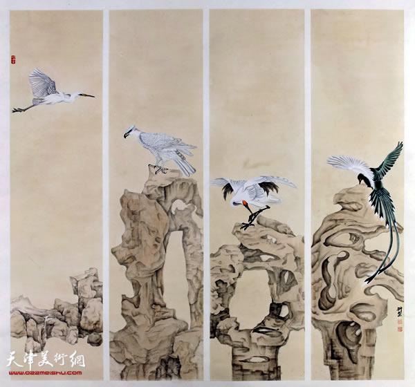 李悦作品《且听风吟》入选第十二届全国美展