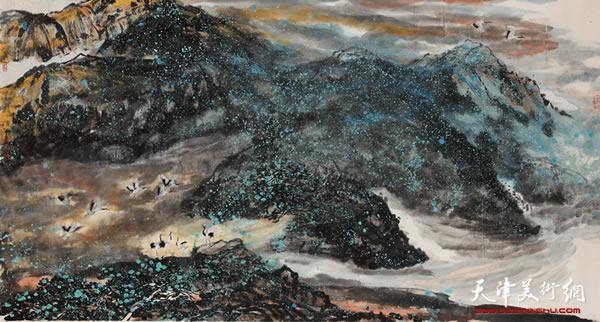 李悦作品《鹤舞追月》