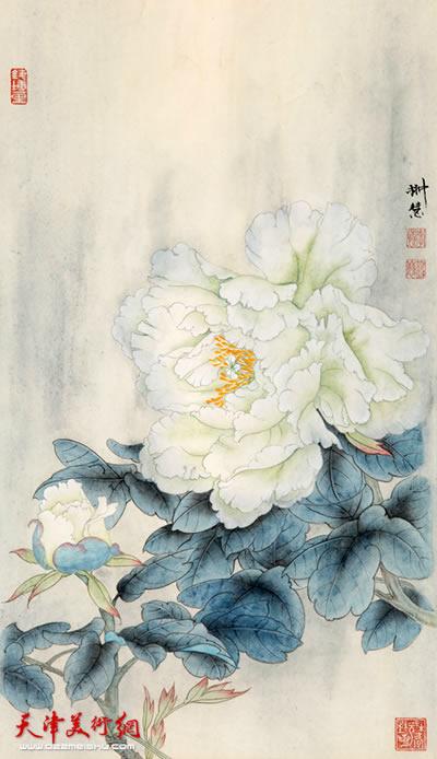 李悦作品《月光白》