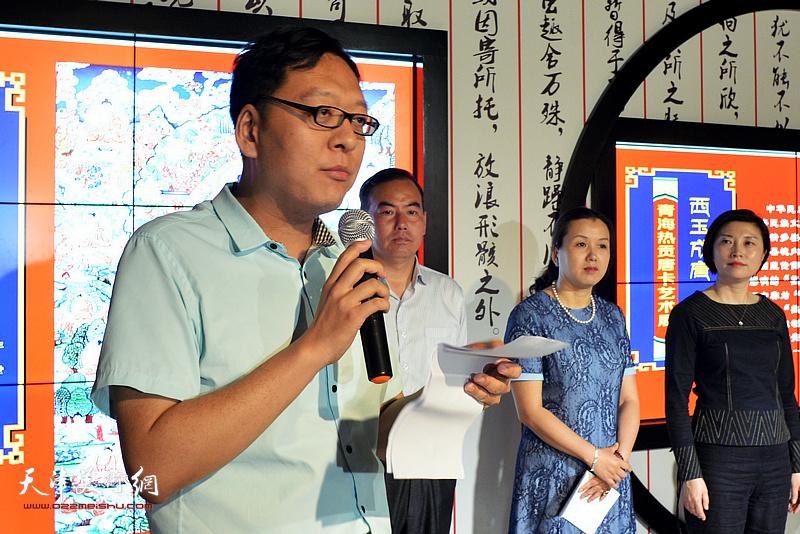 河西区文化馆副馆长李孝辉致辞。