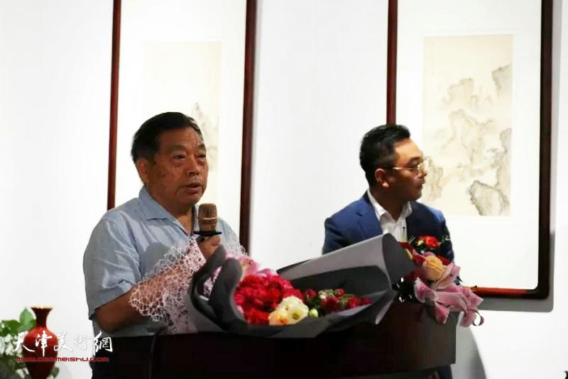 中国美术家交流协会主席冀培礼致开幕词。